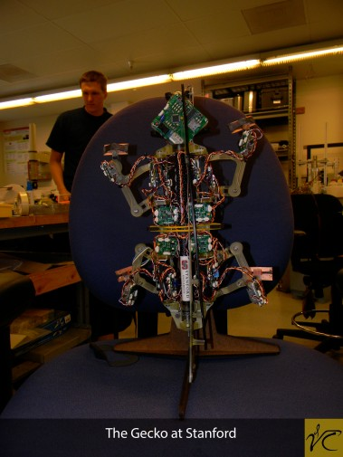 Scholars got the opportunity to see the Gecko-bot in the Biomimetics and Dexterous Manipulation Laboratory at Stanford University.