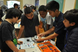 Young DaVincis are learning how to build a strong and fast mindstorms robot.