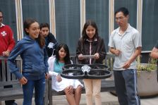 Flight Control: There is an app for that! As these scholars control the drone using a tablet.