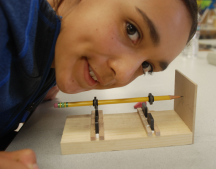 The magical levitating pencil, one of the projects that the scholars worked on at Dr. George Castro's Workshop in San Jose.
