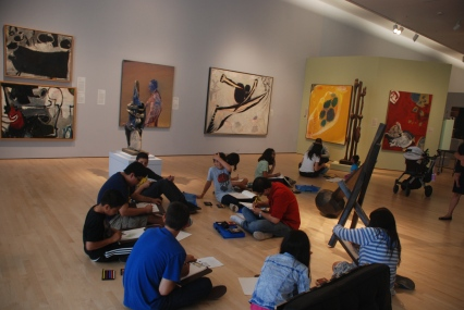 Scholars explore their own artistic abilities at the Cantor Center for Visual Arts, at Stanford University.