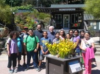 After the touring the Botanical Garden and learning botanical latin from Al Luongo, DaVinci Camp scholars and team members pose with Al for a picture.