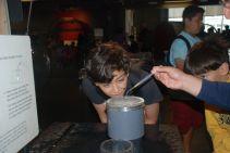 Scholars explore the Water Droplet Exhibit at the Exploratorium in San Francisco.