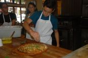 At Cheeseboard in Berkeley, scholars had the opportunity to create their own pizza and explore the art of pizza making!