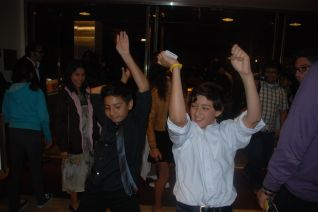 "DaVinci Camp scholars dancing after seeing ""Video Games Live"" at the Davies Symphony Hall featuring the San Francisco Symphony."