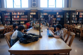 Study time inside of Doe Library at UC Berkeley requires the scholars to buckle down and get to work.