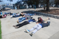 After a few hours of sailing under the sun, the scholars are ready for a nap!
