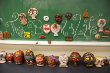 Artist and Production Designer, Simon Varela, helped inspire the skulls made by DaVinci Camp Scholars.