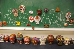 Artist and Production Designer, Simon Varela, helped inspire the skulls made by DaVinci Camp Scholars.
