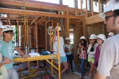 At the solar home at Stanford, scholars see the real life application of structural engineering and solar technology.