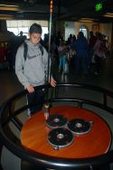 Pendulum and magnets that are used to demonstrate the science of magnetism to the scholars at The Exploratorium in San Francisco.