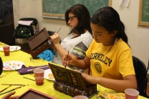 Scholars working hard on finishing their book. The books are starting to look like masterpieces!