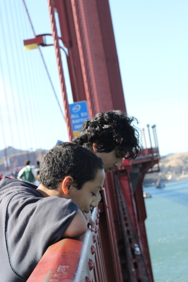 Scholars are amazed how high the Golden Gate Bridge stands above the San Francisco Bay waters.