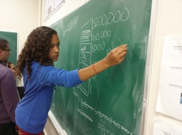 The Mayan number system is one of the numeral systems that is explored by the DaVinci Camp scholars.