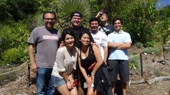 DaVinci camp staff enjoying a hike through the Botanical Gardens on a beautiful day.