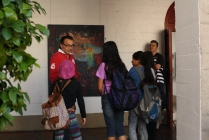 The campers are taught the etiquette of art observation and how to appreciate the beauty in art.