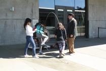 Everyone enjoys jumping rope at the Exploratorium.