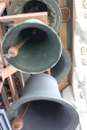 Some of the carillon bells, all the way at the top of UC Berkeley's Sather Tower.