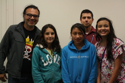 The DaVinci Camp group poses with Dr. Gabriel Acevedo-Bolton who works at the Veterans Affairs hospital in the research laboratory.