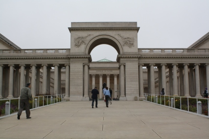 The group visits the Legion of Honor in San Francisco.