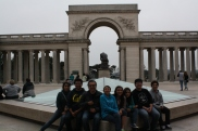 The DaVinci Camp group poses together outside of the Legion of Honor.
