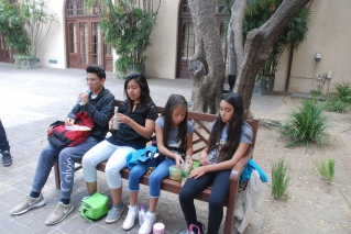 Lunch Time - Scholars enjoying a lunch break on Caltech campus
