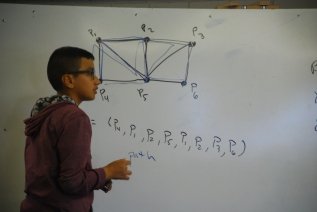Boards Talk - Young Scholar utilizes boards to put into practice concepts of graph theory.