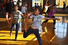 DaVinci scholars enjoys their experience dancing samba.