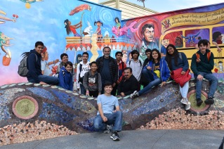 DaVincis learned a lot walking around the mission district in San Francisco with James Rojas.