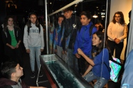 Davincis are amazed to see how big they can make this bubble at the Exploratorium.