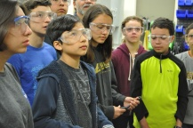Young DaVincis are fascinated by all the things they are learning at the UC Berkeley machine shop in the Mechanical Engineering department.