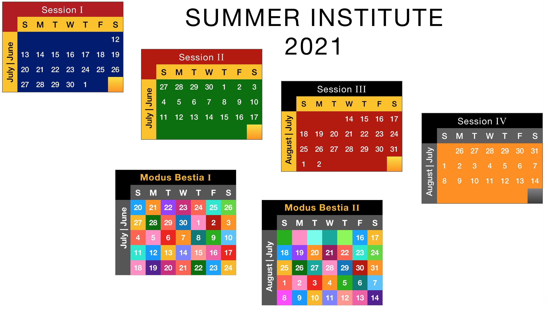 Summer Institute Calendars 2021