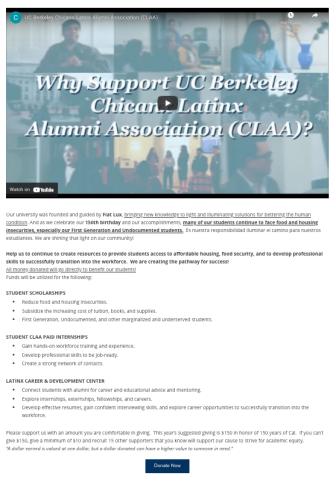 CLAA Donate Page